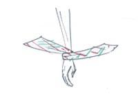 nouer un foulard au poignet