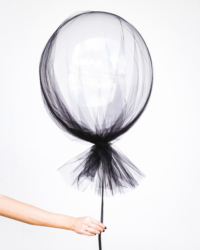 photo ballon mousseline noire
